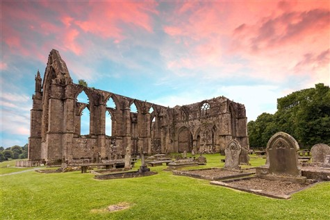Bolton Abbey at Sunset