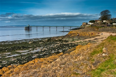 A View of the picturesque Clevedon Beach