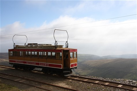 The Snaefell Mountain Railway on the Isle of Man