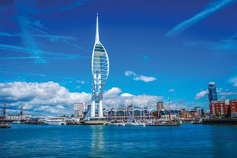 Spinnaker Tower With Cream Tea and Cruise