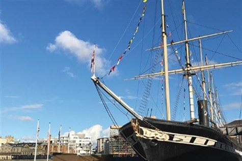 SS Great Britain with lunch
