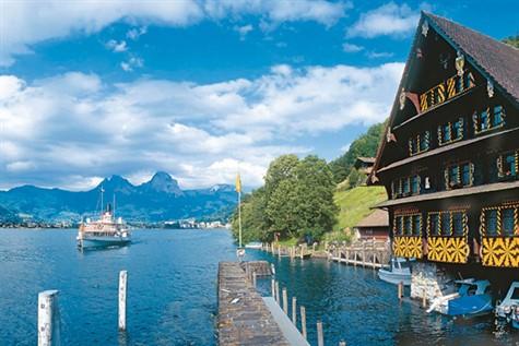 Lake Luzerne in Switzerland
