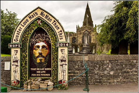 Well Dressing In Buxton