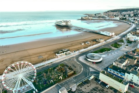 Weston Super Mare coast line from a birds eye view