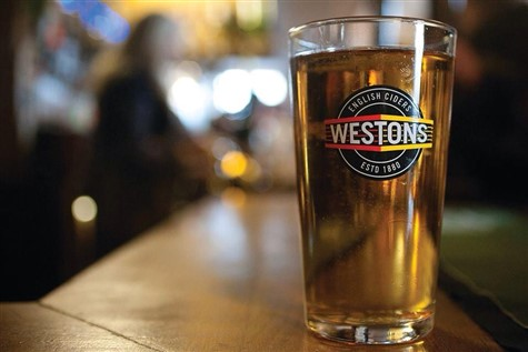 Westons Cider with Sunday Lunch