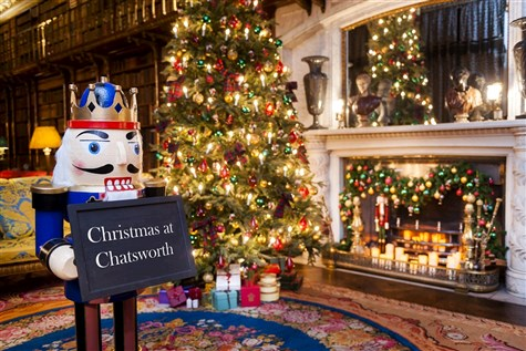 Chatsworth House dressed for Christmas