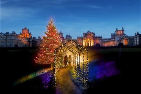 Blenheim Palace Light Trail
