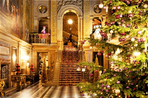 Chatsworth House dressed for Christmas Express
