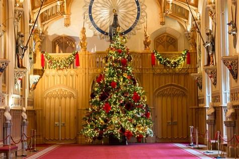 Windsor Castle dressed for Christmas