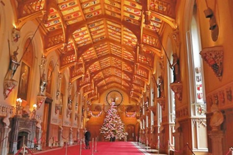 Windsor Castle Dressed for Christmas