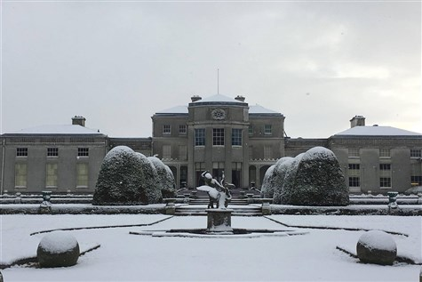 Shugborough Hall dressed for Christmas (NT)