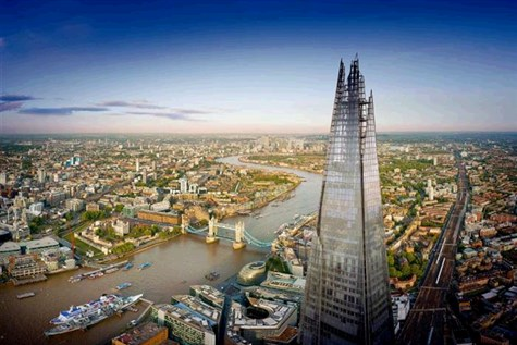 The View from the Shard, London with afternoon Tea